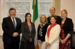 Photo, from left to right: Dr. James Reilly (Minister for Health), Dr. Avril Kennan (DEBRA Ireland), Liz Collins (DEBRA Ireland Family Ambassador), Jimmy Fearon (DEBRA Ireland), Dr. Rosemary Watson (Our Lady's Children's Hospital, Crumlin) and Claire Considine (DEBRA Ireland).